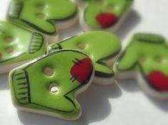 Handmade Mitten Buttons