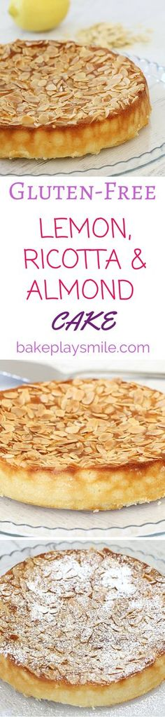 This is my favourite Gluten-Free Lemon, Ricotta & Almond Cake! It's so quick and simple!! #gluten-free #lemon #ricotta #almond   Bake Play Smile