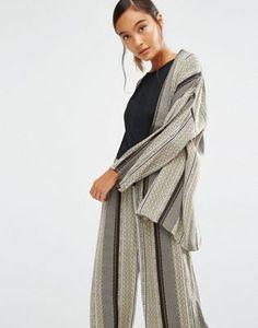 Куртка-кимоно с принтом First & I