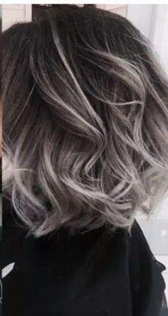 Hair gray color ombre grey 51 Ideas Hair gray color ombre grey 51 Ideas - Station Of Colored Hairs Hair Color Dark, Ombre Hair Color, Dark Hair, Gray Color, Gray Ombre, Grey Hair Colors, Dark To Silver Hair, Grey Hair Bob, Ombre Silver Hair