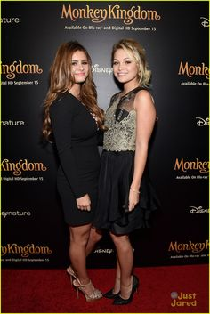 Olivia Holt Celebrates 'Monkey Kingdom' Bluray Release With Jacquie Lee
