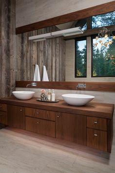Lake Tahoe Residence rustic-bathroom