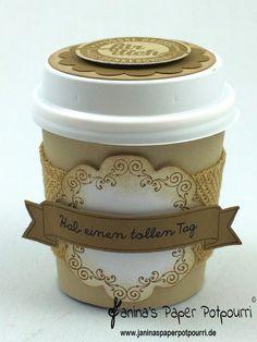 jpp - mini coffee to go goodie / Verpackung / Kaffeebecher / Stampin' Up! Berlin / Große Klasse / Süße Stückchen / Daydream Medallions  www.janinaspaperpotpourri.de
