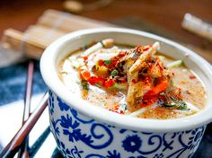 Coconut Cabbage Paleo Thai Soup in a bowl