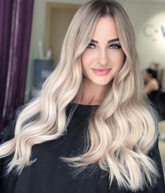 Blonde Hair Looks, Ash Blonde Hair, Guy Tang Blonde, Wedding Hair Colors, Balayage Blond, Hair Junkie, Champagne Blonde, Hair Highlights, Hair Dos