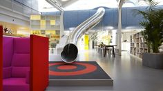 Slide at LEGO Office in Billund, Denmark, by Bosch & Fjord, 2007