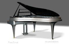 Aluminum piano, 1965 by Rippen Piano Co