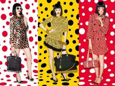 Clothes. A lot of silk!  YAYOI KUSAMA FOR LOUIS VUITTON.  http://minimalandfashion.blogspot.it/2012/07/pois-pois-and-pois-louis-vuitton-meets.html