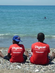 Chill Time - Digicel Volunteers at the Surfing for Autism event held on March 24, 2012 at Bull Bay, St. Thomas, Jamaica