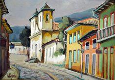 OMAR PELEGATTA - (1925 - 2000)    Título: Paisagem  Técnica: óleo sobre eucatex  Medidas: 19 x 26 cm  Assinatura: canto inferior esquerdo