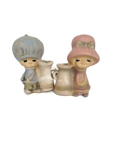 Ceramic Uctci boy and girl vintage figurine by BellBottomVintage
