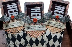 Halloween treat holders by Authentique Paper Design Team Member Shellye McDaniel
