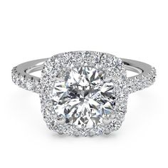 Ritani Halo French-Set Diamond Band Round Cut Mounting - current dream ring :)
