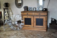 Too imposing to maneuver it out of the studio and make pictures Upcycled Furniture, Furniture, Rustic Furniture, Furniture Makeover, Rustic Furniture Design, Trendy Home, Vintage Sideboard, Rustic Decor, Home Decor