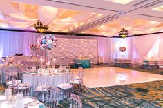 Under the Sea Theme - Atlantic Ballroom - Photo: Sara Purdy Photography, Décor: Rachael Kasie Designs