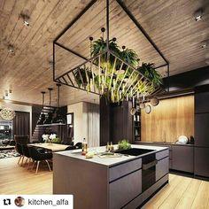 """601 Likes, 6 Comments - @loft_wood_life on Instagram: """"#Repost @kitchen_alfa ・・・ Впечатляющие интерьеры в стиле лофт для вашего вдохновения -…"""""""