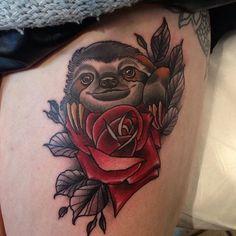 cute sloth tattoo - Google Search