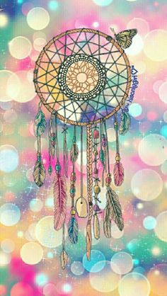 Dreamcatcher bokeh wallpaper I created for the app CocoPPa