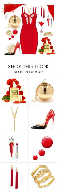 Pretty Lady In Red by poshgirlus on Polyvore featuring Christian Louboutin, Topshop, SPINELLI KILCOLLIN, Yves Saint Laurent, Elizabeth and James, Nila Anthony, BERRICLE, men's fashion and menswear