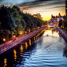 The beautiful Rideau Canal in Ottawa, Canada, is a UNESCO World Heritage Site. Ottawa Canada, Ottawa Ontario, O Canada, Canada Travel, Alberta Canada, Canada Summer, Canada Trip, Montreal Canada, Places To Travel