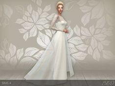 Lana CC Finds - Wedding dress 28 by BEO <--- I literally... It took me far too long to realize this was a Sim.