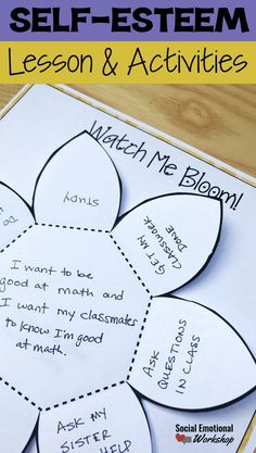 Self-esteem small group or individual counseling lesson to help students develop an awareness of their strengths, perception of themselves, their support network. Use counseling activities for self-esteem that are evidence-based. Craft, hands on activities for counseling
