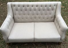 Alice - Two Seater Linen Chesterfield