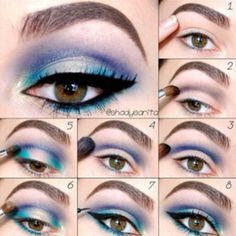 Easy Step by step eye makeup