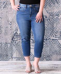 Look at this #zulilyfind! Kingman Blue Crop Jeans - Plus by Seven7 #zulilyfinds
