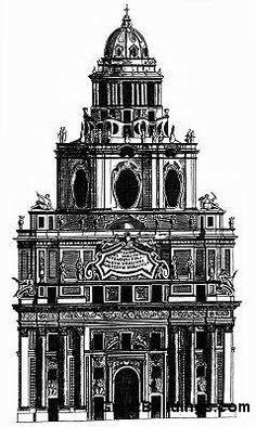 San Lorenzo, Turin, by Guarino Guarini, at Turin, Italy, 1666 to 1679.