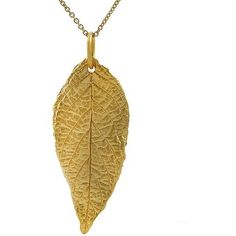 Journee Collection Sterling Silver Vermeil-style Leaf Necklace ($42) ❤ liked on Polyvore featuring jewelry, necklaces, accessories, white, pendants & necklaces, leaf necklace, long necklace, cable chain necklace y sterling silver pendant