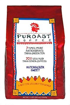 Puroast Low Acid Coffee Nutcracker Sweet Whole Bean 5 Pound Bag *** To view further for this item, visit the image link.