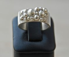 "Silver clay ring "" Bubbles "" by Libra Jewels www.librajewels.nl"