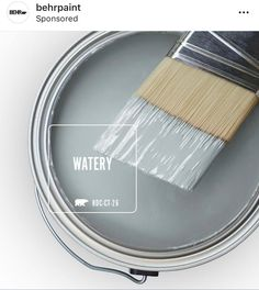 Watery- Behr - Home Decora La Maison Room Colors, Wall Colors, House Colors, Interior Paint Colors For Living Room, Paint Colors For Home, Paint Colours, Paint Color Schemes, Paint Swatches, Paint Stain