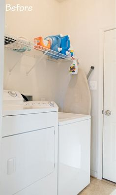 """Fantastic """"laundry room storage diy cabinets"""" detail is offered on our internet site. Have a look and you wont be sorry you did. Tiny Laundry Rooms, Laundry Room Shelves, Laundry Room Cabinets, Laundry Room Organization, Laundry Room Design, Diy Cabinets, Small Laundry, Mud Rooms, Laundry Storage"""