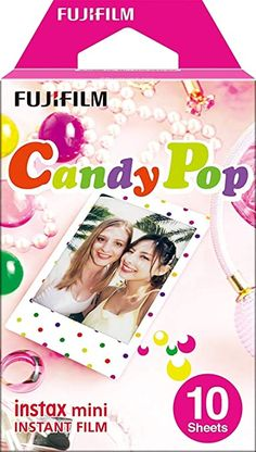 instax W891719 Candy pop Mini Film, 10 Shot Pack: Amazon.co.uk: Electronics Fuji Instax Mini, Instax Mini Film, Instax Mini Camera, Fujifilm Instax Mini 8, Polaroid Instax, Instax Share, Mini Photo Frames, Photographic Film, Candy Pop