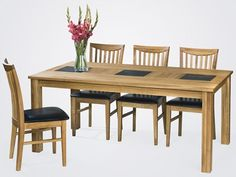 Confident Living Arizona matbord  Massivt oljad ek och skiffer 180x100, h=75 Arizona, Dining Table, Interior Design, Living, Confident, Furniture, Home Decor, Nest Design, Decoration Home