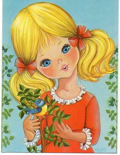 Vintage Postcard by Helene