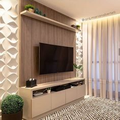 Amazing Modern TV Wall Decor Idea for Living Room Design Look Luxury - If you don& find out how to decorate the wall supporting the bed, and you feel a perplexed in - Small Wall Decor, Tv Wall Decor, Small Living Rooms, Home Living Room, Living Room Decor, Modern Tv Wall, Modern Room, Living Room Tv Unit Designs, Small Apartments