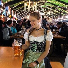 Munich Oktoberfest, Oktoberfest Outfit, German Women, German Girls, Mass Bier, Sexy Work Outfit, Dirndl Dress, Beer Girl, Beer Fest