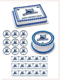 Penn State Nittany Lions Time Edible Birthday Cake Topper