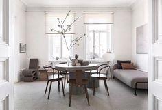 Massproductions - Icha Chairs in Walnut Stained Beech. Scandinavian designer furniture.