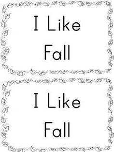 I Like Fall Mini book (free!!)