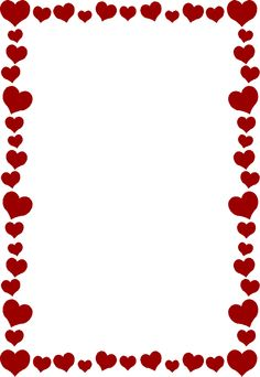 border holiday printable mike folkerth king of simple western rh pinterest com valentine heart clip art borders Happy Valentine's Day Clip Art