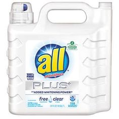 All Free & Clear Plus+ HE Liquid Laundry Detergent, 158 loads, 237 fl oz Laundry Pods, Kitchen Appliance Packages, Gas Dryer, Liquid Laundry Detergent, Playroom Furniture, Washer And Dryer, Whitening, Perfume, Cleaning