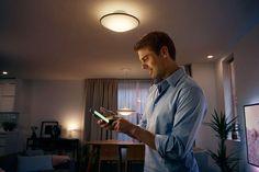 Buy Philips Hue Phoenix Semi-Flush Ceiling Light from our Smart Lighting range at John Lewis & Partners. Smart Lights, Work Lights, Phoenix, Philips Hue, Semi Flush Ceiling Lights, Led, Incandescent Bulbs, White Light, Design