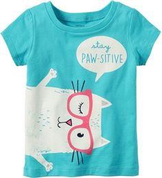 Carter's Little Girls Stay Paw-sitive T-Shirt