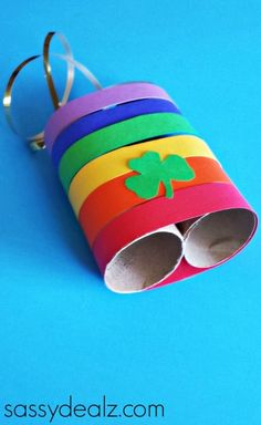 How fun! Leprechaun Binoculars are a fun St. Patrick's Day craft that will have the whole family on the hunt for leprechauns/