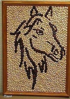 Haz lindos cuadros decorativos para tu hogar usando semillas