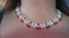 DIY Pearl and beads collar  COLLAR PERLAS Y RONDELLES-PEARLS AND RONDELS NECKLACE.
